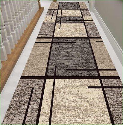 tapis couloir motif géométrique
