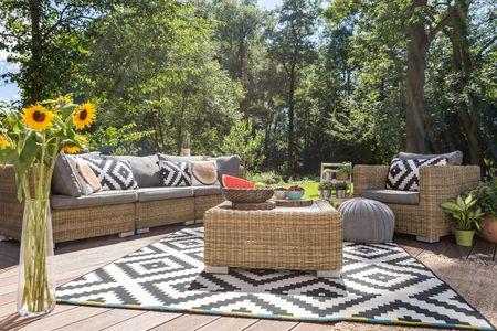 tapis extérieur jardin